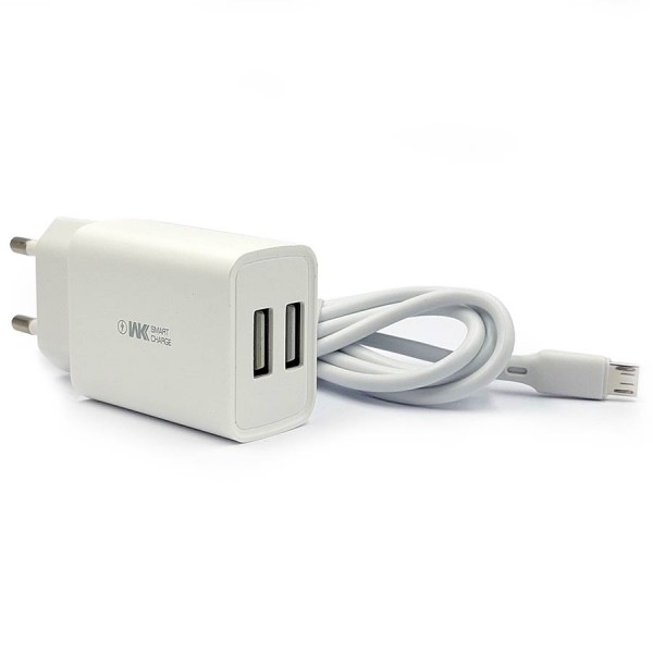 WK Dual USB Charger 10W WP-U56 + Micro U...