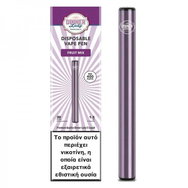 Dinner Lady Fruit Mix Disposable Vape Pen 20mg 1.5ml