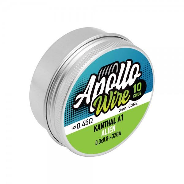 Apollo Kanthal A1 Alien  0.3x0.8+32ga / 0.45ohm / 10 Coils
