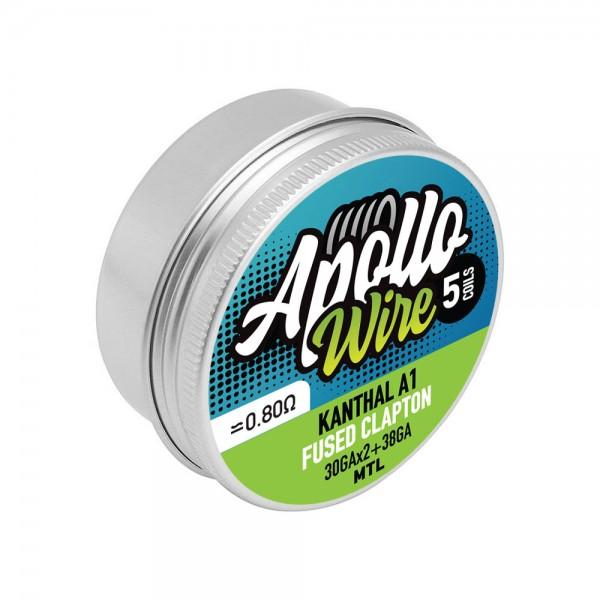Apollo Kanthal A1 Fused Clapton 2x30+38ga / 0.8ohm / 5 coils