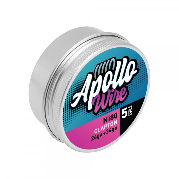 Wires & Cotton - Apollo Ni80 Clapton 24ga+34ga / 0.48ohm / 5 Coils