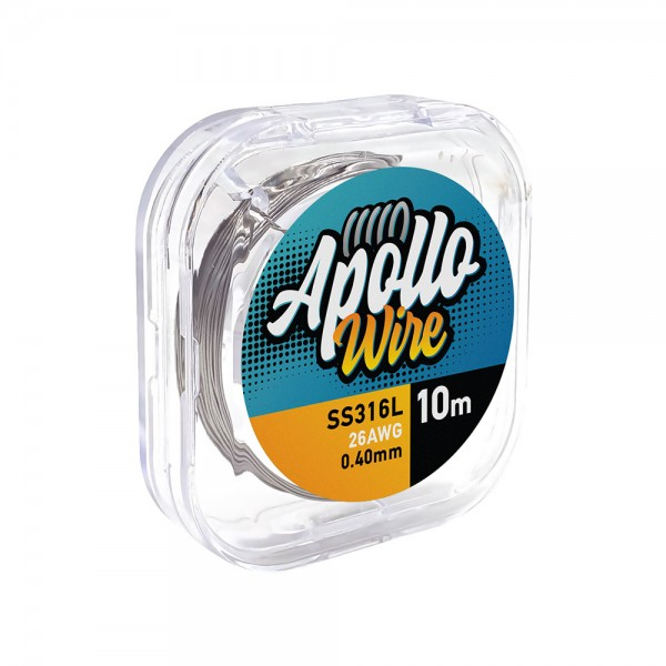 Wires & Cotton - Apollo SS 316L Wire 26AWG / 0.40mm / 10m