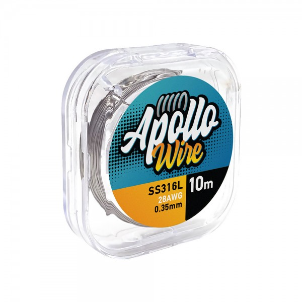 Apollo SS 316L Wire 28AWG / 0.35mm / 10m
