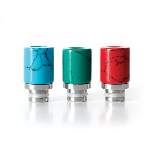 Filters & Drip Tips - Drip Tip Stainless+Turquoise