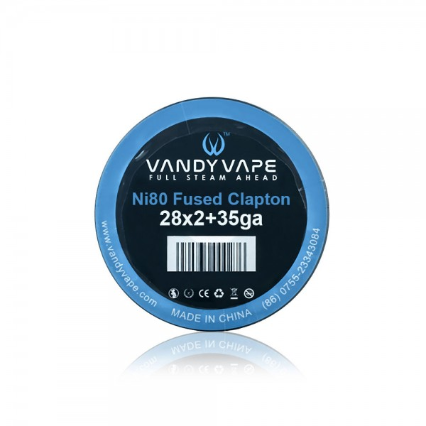 Various Parts - Vandy Vape Fused Clapton Wire Ni80 28x2+35g - 3m