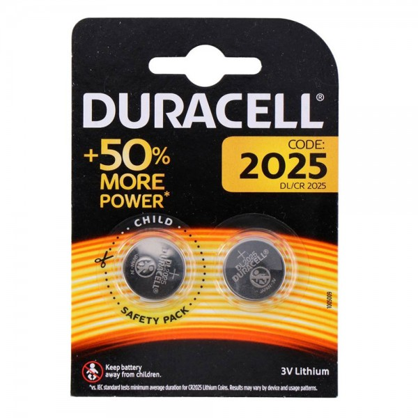 Duracell Long Lasting Power CR2025 3V (2...