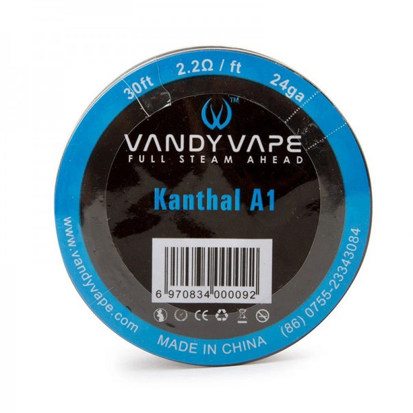 Wires & Cotton - Vandy Vape Kanthal A1 Wire 24ga 9m