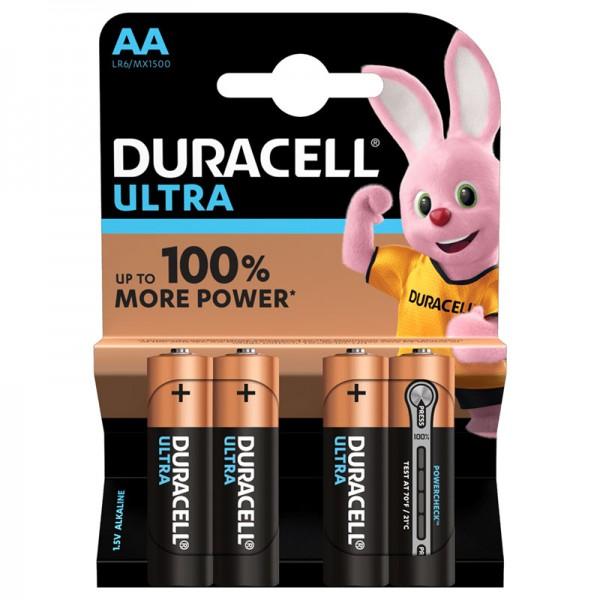 4xAA Duracell Ultra 1.5V Alkaline