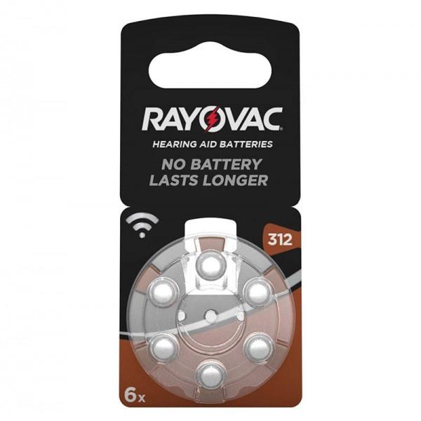 Rayovac 312 PR41 1x6 Kit